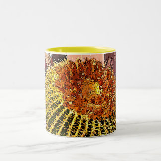 Cartoon Barrel Cactus Two Tone Mug