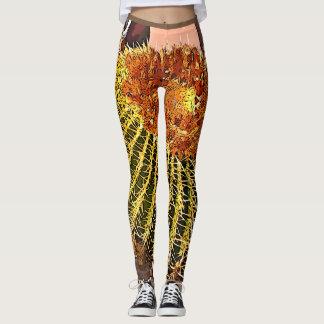 Cartoon Barrel Cactus Women's Leggings. Leggings