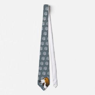 Cartoon Basset Hound Tie