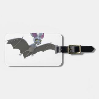 Cartoon Bat Flying Luggage Tag