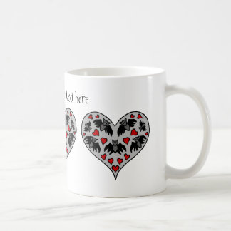 Cartoon bat Valentines Day Coffee Mug