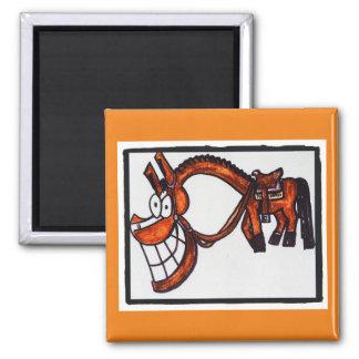 Cartoon bay western show quarter horse magnet