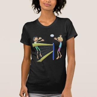 Cartoon Beach Volleyball Players T-Shirt