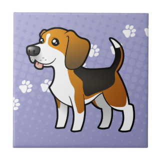 Cartoon Beagle Ceramic Tile