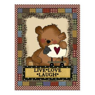 Cartoon Bear Inspirational Postcard