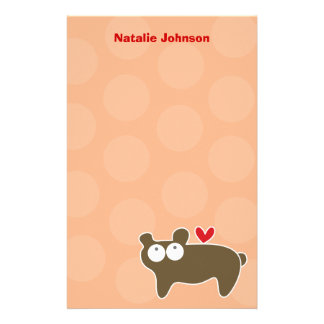 Cartoon Bear Kid Personal / Thank You Stationery