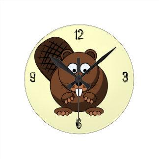 Cartoon Beaver Wall Clock