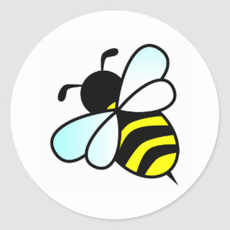 Cartoon Bee/Honeybee Classic Round Sticker