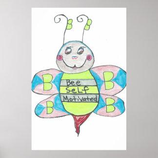 cartoon bee poster