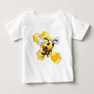 Cartoon bee with honeycomb baby T-Shirt
