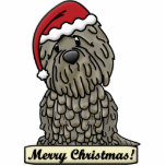 Cartoon Bergamasco Christmas Ornament Photo Sculpture Decoration