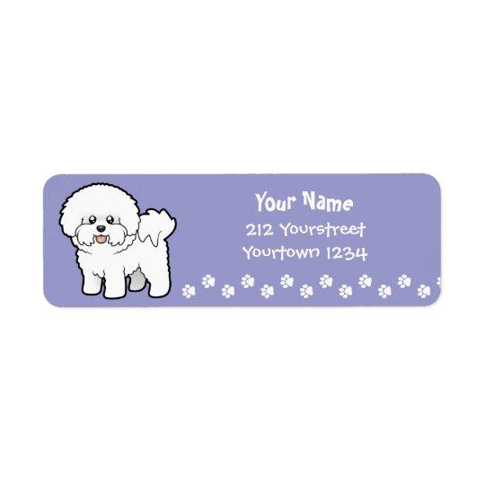 Cartoon Bichon Frise Return Address Label