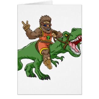 cartoon bigfoot-cartoon t rex-T rex bigfoot Card