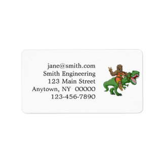 cartoon bigfoot-cartoon t rex-T rex bigfoot Label