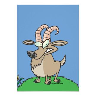 cartoon billy goat card
