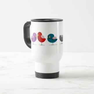 Cartoon Birds Colorful Cute Funny Lovely Simple Travel Mug