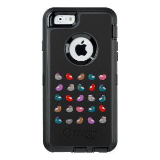 Cartoon Birds Colorful Pattern Black Background OtterBox iPhone 6/6s Case
