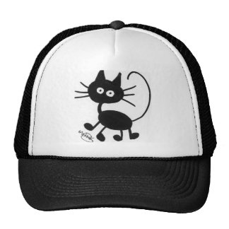 Cartoon Black Cat Cap