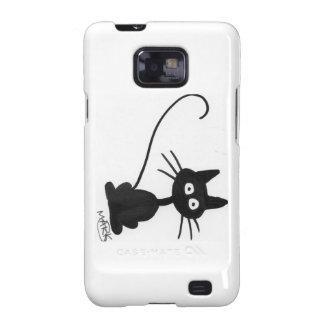 Cartoon Black Cat Galaxy S2 Covers