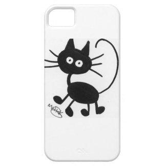 Cartoon Black Cat Case For The iPhone 5