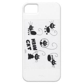 Cartoon Black Cat - lots of meows iPhone 5 Case