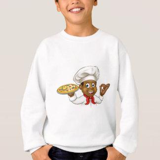 Cartoon Black Pizza Chef Sweatshirt