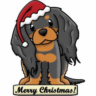 Cartoon Black & Tan Cavalier Christmas Ornament Photo Sculpture Decoration