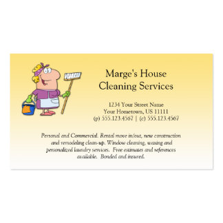Cartoon Blonde House Cleaning Lady Loyalty Busines Pack Of Standard Business Cards