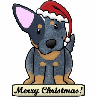 Cartoon Blue Heeler Christmas Ornament Photo Sculpture Decoration