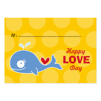 Cartoon Blue Whale Photo Kids Classroom Valentine Pack Of Chubby Business Cards
