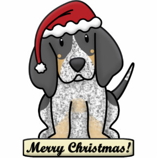 Cartoon Bluetick Coonhound Christmas Ornament Photo Sculpture Decoration