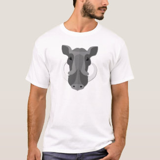 Cartoon Boar Head T-Shirt