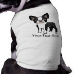 Cartoon Boston Terrier Sleeveless Dog Shirt