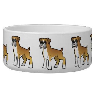 Cartoon Boxer Pet Food Bowls
