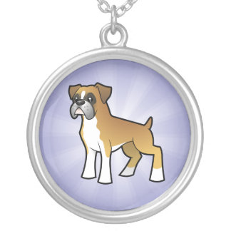 Cartoon Boxer Silver Plated Necklace