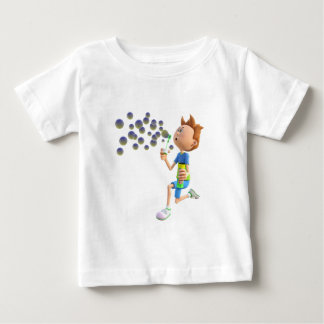 Cartoon boy blowing bubbles baby T-Shirt