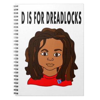 cartoon boy dreadlocks school notebook