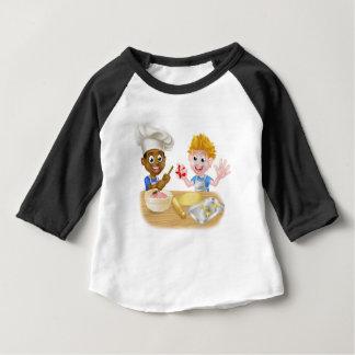 Cartoon Boys Baking Baby T-Shirt