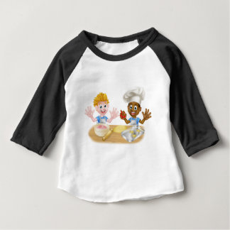 Cartoon Boys Baking Cakes Baby T-Shirt
