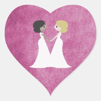 Cartoon brides heart sticker