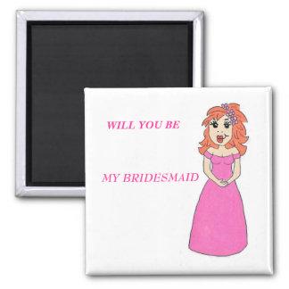 Cartoon Bridesmaid Magnet Magnet