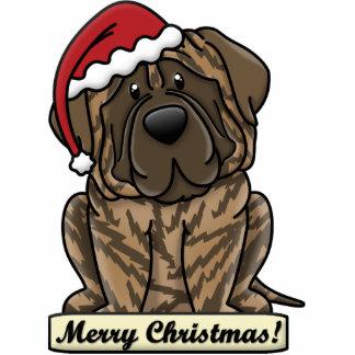 Cartoon Brindle Mastiff Photo Sculpture Decoration