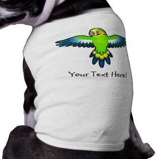 Cartoon Budgie / Parakeet Sleeveless Dog Shirt