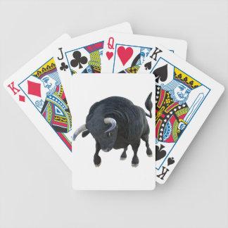 Cartoon Bull Charging Forward Head Down Bicycle Playing Cards