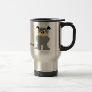 Cartoon Bull Dog Fight Club Fan Coffee Mug