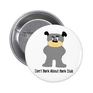 Cartoon Bull Dog Fight Club Fan Pinback Button