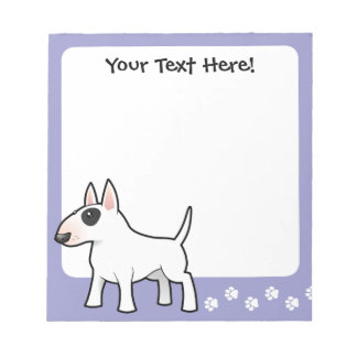 Cartoon Bull Terrier Notepad