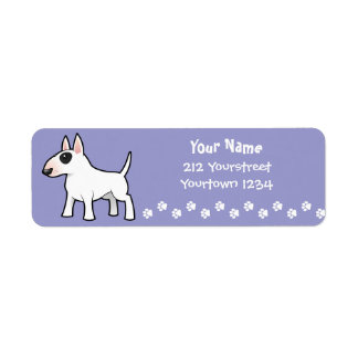 Cartoon Bull Terrier Return Address Label