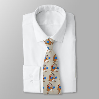 Cartoon Bulldog Boxer Tie