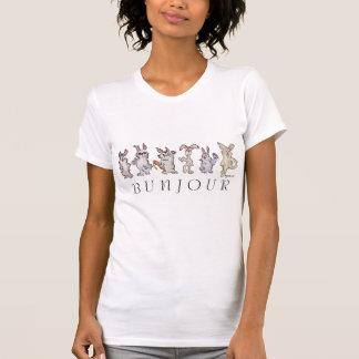 Cartoon Bunny Rabbits Bunjour T-shirt